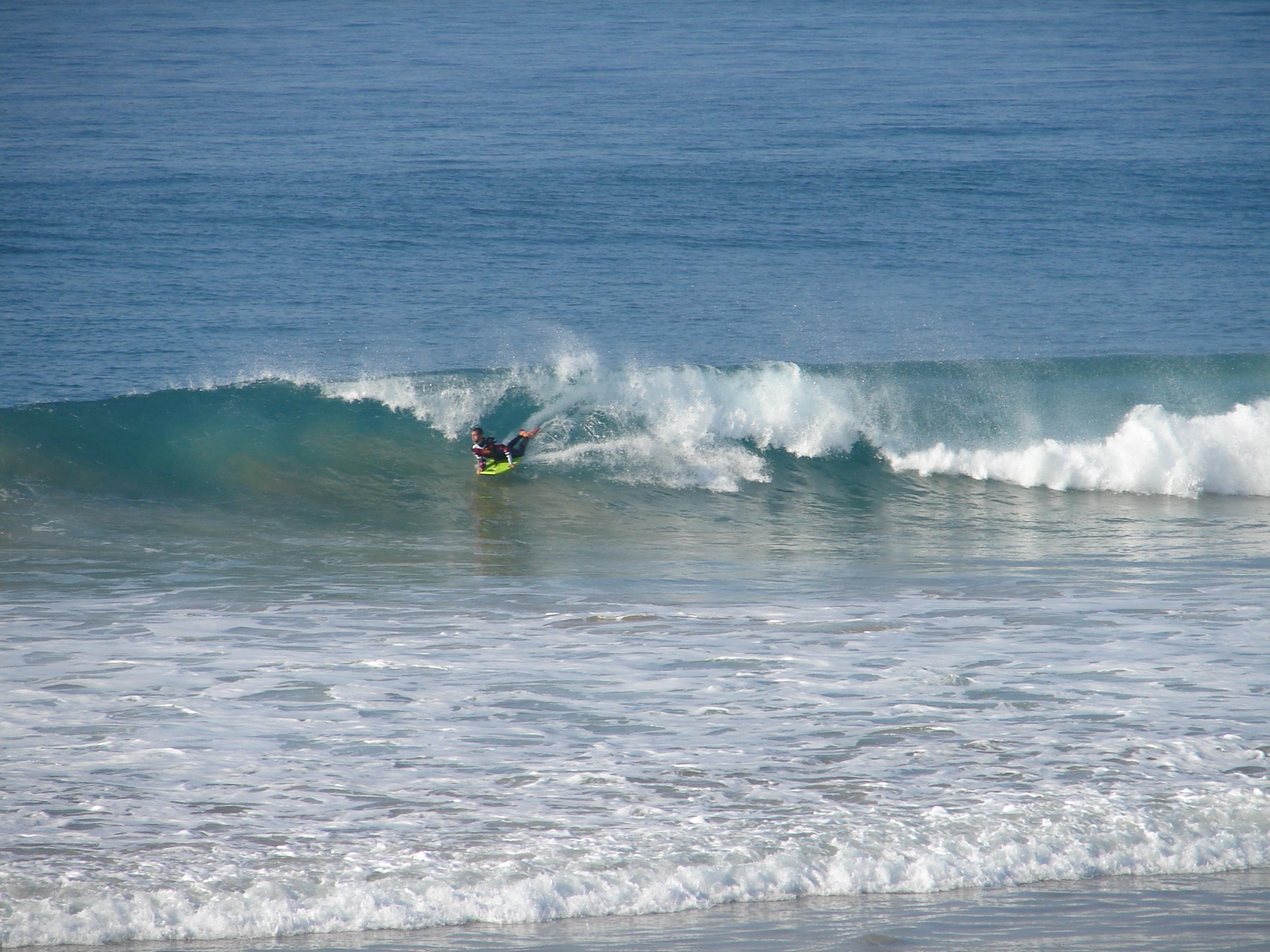 Bodyboard en la Playa del Palmar